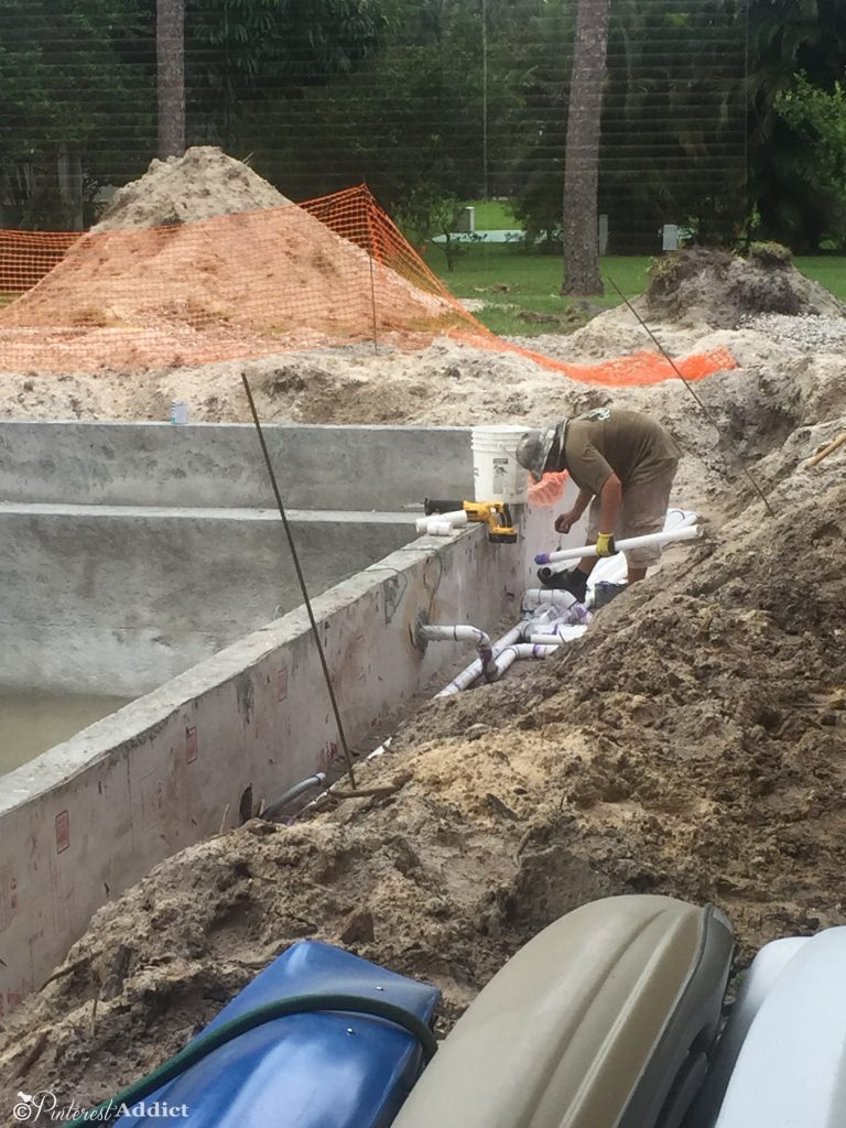 What to expect when building a pool - plumbing
