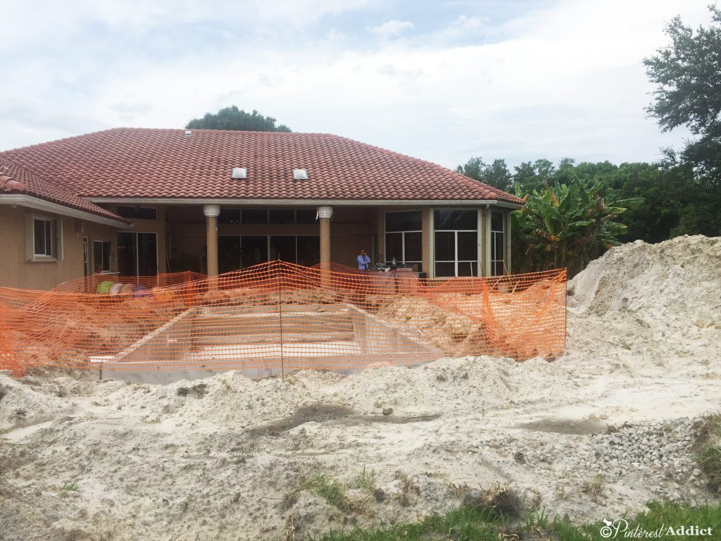 What to expect when building a pool - view from the backyard