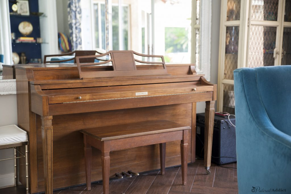 Thinking of painting your piano? Come see how this one looks now!