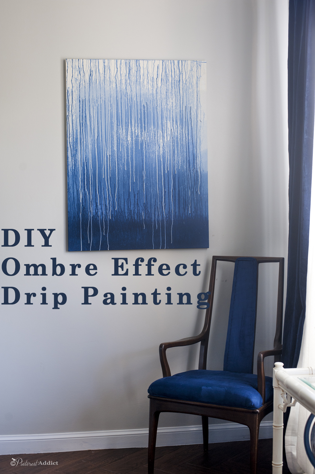 Diy Art Ombre Drip Painting Pinterest Addict