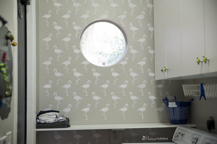 Flamingo Deco Wall Stencil - Royal Designs Studio