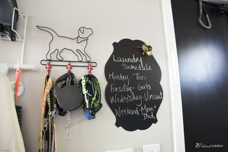 laundry schedule - magnetic chalk board