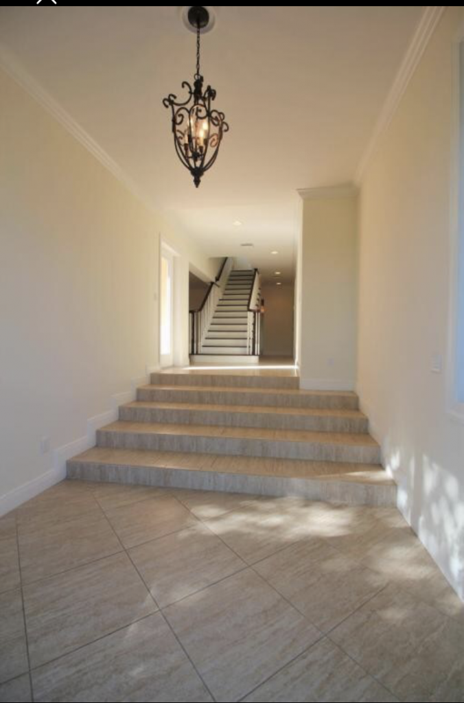 Entry way - tile steps