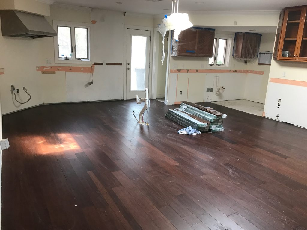 Hazel bamboo wood flooring - Pinterest Addict ORC kitchen reno
