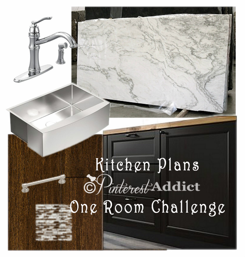 Kitchen plans for the One Room Challenge - Pinterest Addict