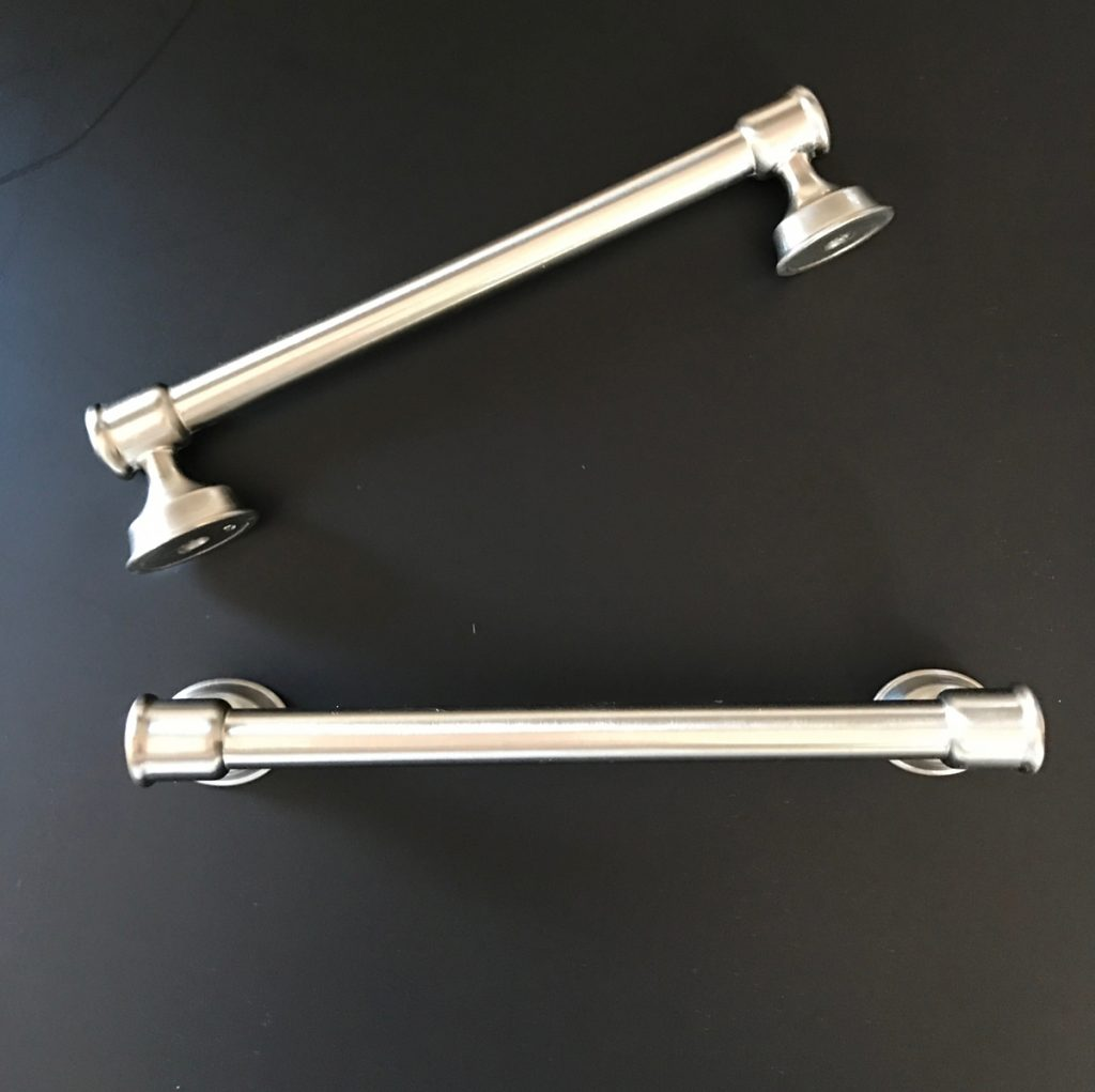D. Lawless cabinet hardware - caspian pull satin nickel - ORC - kitchen remodel