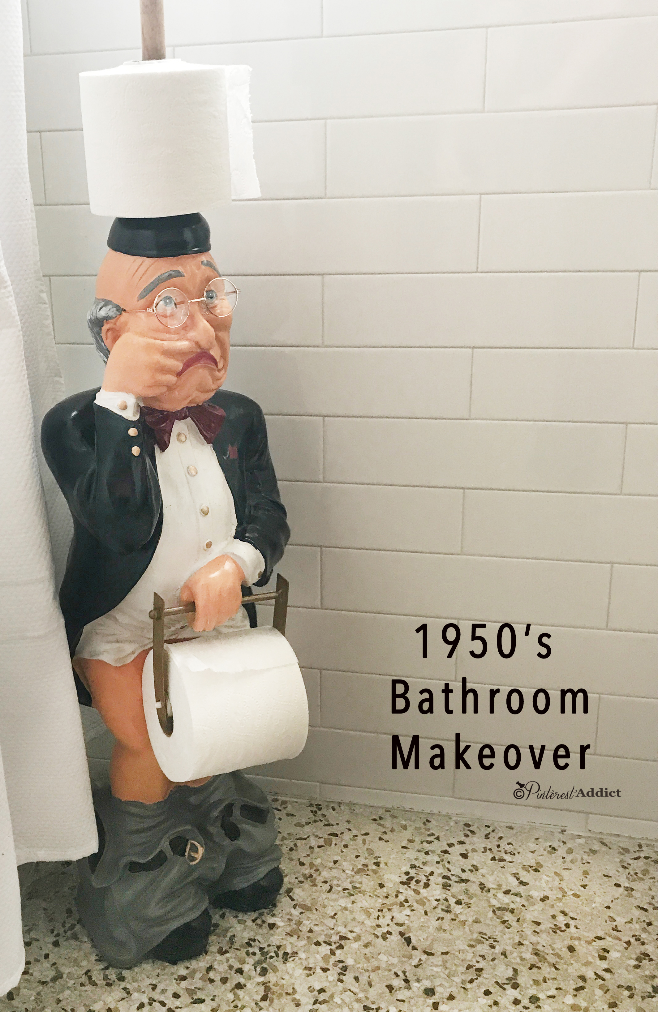 1950 39 S Guest Bathroom Makeover Pinterest Addict