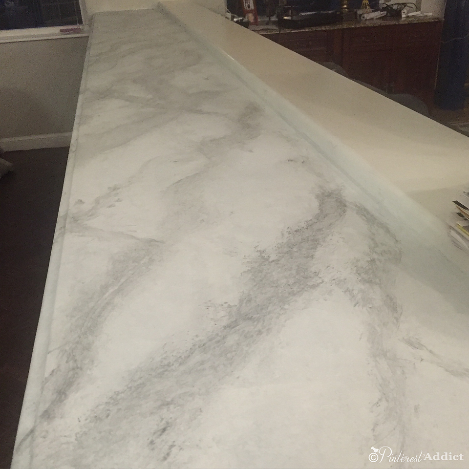 faux marble counter - after