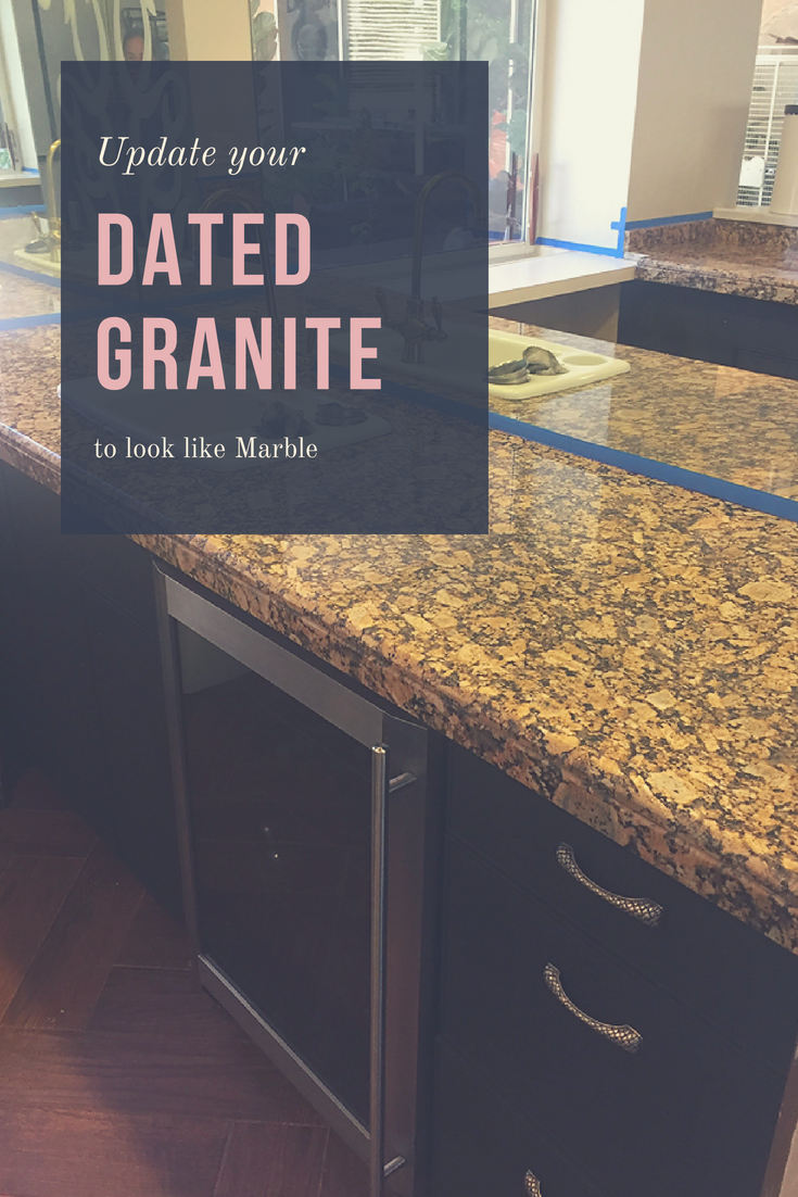 Update Your Granite Counters To Look Like Marble